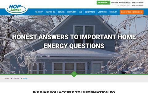 Screenshot of FAQ Page hopenergy.com - FAQs | HOP Energy - captured Dec. 20, 2018