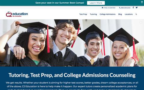 Screenshot of Home Page c2educate.com - Test Prep, Tutoring, and College Preparation - C2 Education - captured Feb. 26, 2018