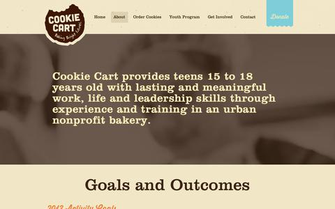 Screenshot of About Page cookiecart.org - About Cookie Cart | Cookie Cart - captured Sept. 30, 2014