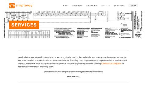 Screenshot of Services Page simpleray.com - Services Ń Simpleray - captured Nov. 21, 2015