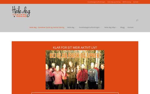 Screenshot of Home Page heiledeg.no - Heile deg - Kombiner fysisk og mental trening - captured Sept. 19, 2015