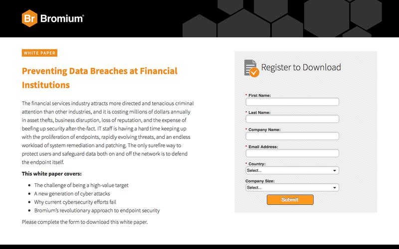 Bromium: White Paper - Preventing Data Breaches at Financial Institutions