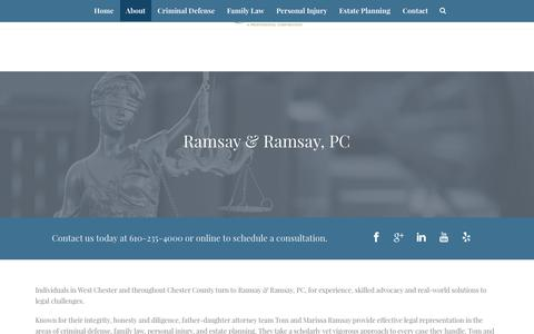 Screenshot of About Page ramsaylawoffice.com - About – Ramsay & Ramsay, PC - captured Oct. 19, 2017