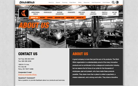 Screenshot of About Page ditchwitch.com - About Us | Ditch Witch - captured Sept. 30, 2014