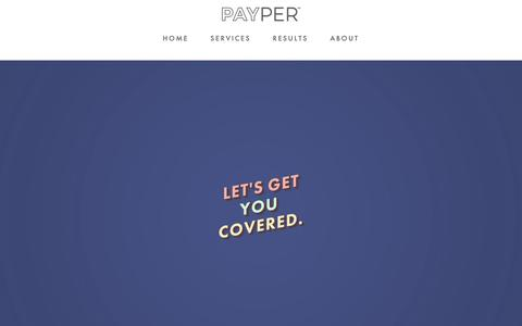 Screenshot of Services Page payper.co - Services — Payper - captured Nov. 2, 2018