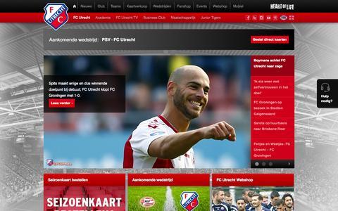 Screenshot of Home Page fcutrecht.nl - FC Utrecht - captured Sept. 23, 2014