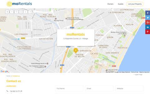 Screenshot of Contact Page mo-rentals.com - Contact with moRentals | moRentals - captured June 13, 2017