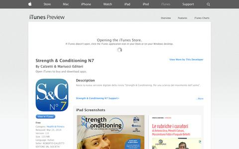 Screenshot of iOS App Page apple.com - Strength & Conditioning N7 on the App Store on iTunes - captured Oct. 22, 2014