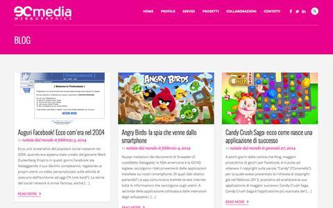 Screenshot of Blog ecmedia.it - Blog ufficiale di Ecmedia: notizie, aggiornamenti e tutorial web - captured Oct. 22, 2014