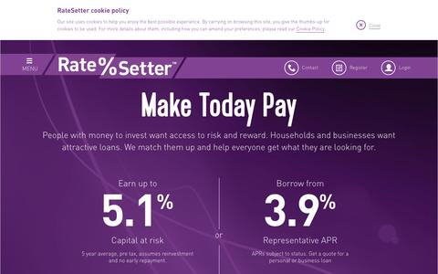 RateSetter Peer To Peer Lending – P2P Investing & Borrowing