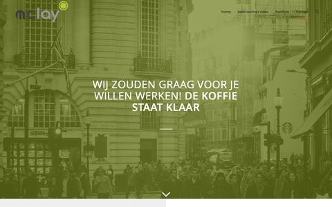 Screenshot of Contact Page mclay.nl - Mclay |   Ook een bedrijfsfilm, productfilm of een andere online video nodig? - captured March 7, 2016