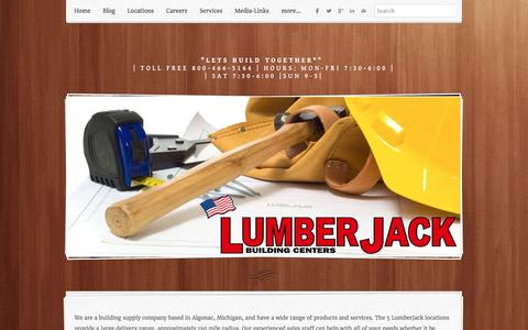 Screenshot of About Page lumber-jack.com - Welcome to about us at LumberJack Building Centers - Lumber Jack Building Centers - captured Feb. 1, 2016