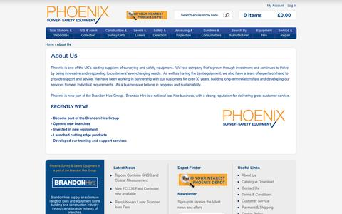 Screenshot of About Page phoenixse.com - About Us - captured Oct. 2, 2014