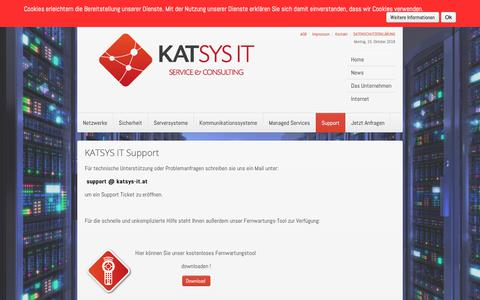 Screenshot of Support Page katsys-it.at - katsys-it.at - Support - captured Oct. 15, 2018