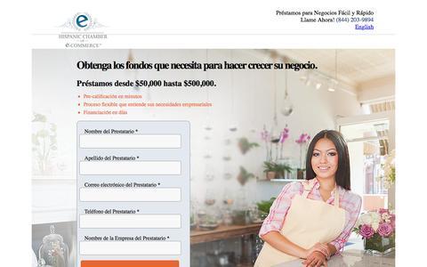 Screenshot of Landing Page dealstruck.com - Hispanic Chamber of eCommerce | Dealstruck - captured Oct. 29, 2016