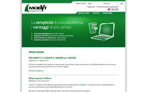 Screenshot of Press Page mobyt.it - Press Room | Mobyt - captured Oct. 26, 2014