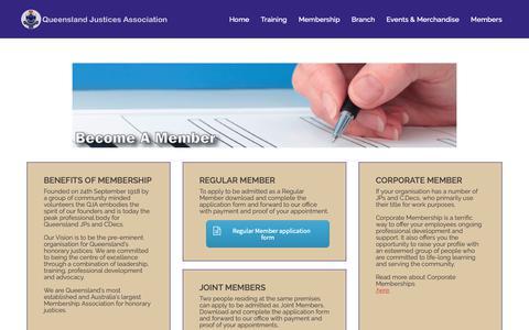 Screenshot of Signup Page qja.com.au - Queensland Justices Association   Support   Membership Association  Professional Development   for JPs and CDecs - QJA - captured Dec. 16, 2018