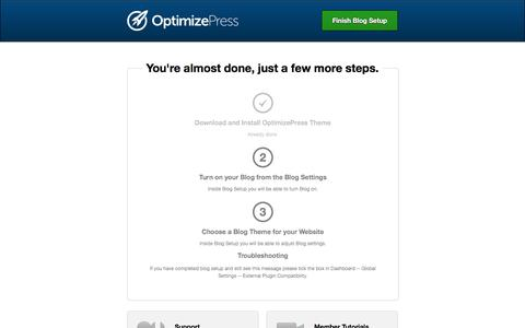 OptimizePress - Getting Started