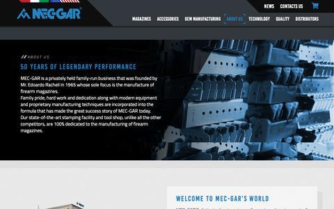 Screenshot of About Page mec-gar.com - Firearm magazines manufacturer | Mec-Gar - captured Oct. 25, 2018