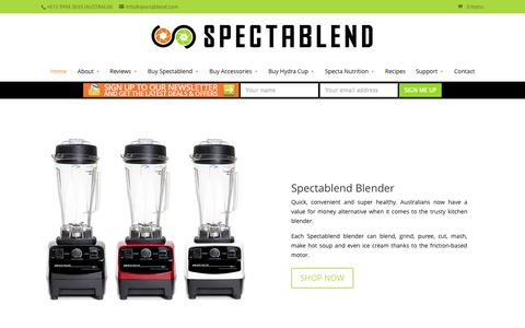 Screenshot of About Page spectablend.com - Buy Best Kitchen Blenders Online Melbourne, Australia - captured Oct. 7, 2014
