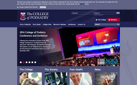 Screenshot of Home Page scpod.org - College Homepage - captured Oct. 9, 2014