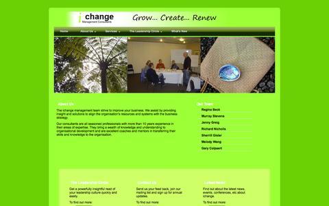 Screenshot of About Page Team Page ichange.co.nz - ichange Management Consultants - captured Oct. 25, 2014