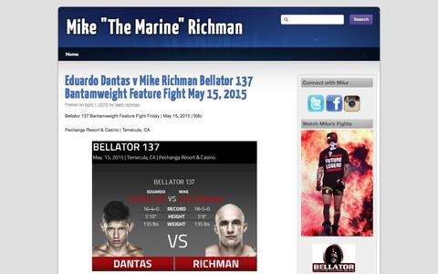 """Screenshot of Home Page mikerichman.com - Mike """"The Marine"""" Richman - captured Oct. 9, 2015"""