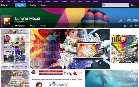 Screenshot of Flickr Page flickr.com - Flickr: Lumnia Media's Photostream - captured Oct. 22, 2014