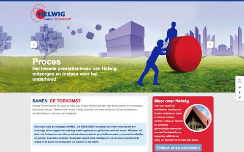 Screenshot of Home Page helwig.nl - Helwig | Samen. De toekomst - captured Oct. 2, 2014