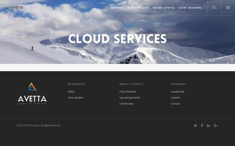 Cloud Services – AVETTA Global