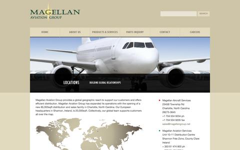 Screenshot of Locations Page magellangroup.net - Locations | Magellan Aviation Group - captured Oct. 3, 2014