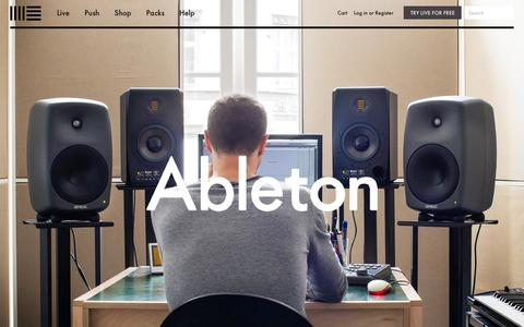 Screenshot of About Page ableton.com - Learn more about Ableton - maker of Live and Push  | Ableton - captured Sept. 18, 2014