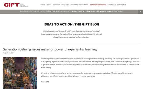 Screenshot of Blog global-inst.com - Ideas to Action: The GIFT Blog — Global Institute For Tomorrow - captured Aug. 9, 2017
