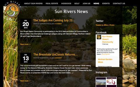 Screenshot of Press Page sunrivers.com - Sun Rivers News ‹ Sun Rivers Golf Resort Community - captured Feb. 16, 2016