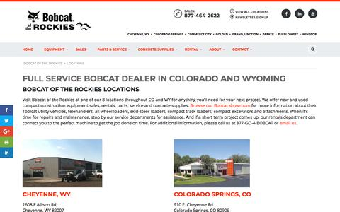 Screenshot of Locations Page bobcatoftherockies.com - Locations - Bobcat of the Rockies - captured Aug. 3, 2018