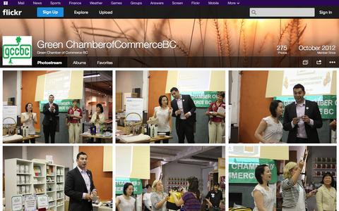 Screenshot of Flickr Page flickr.com - Flickr: Green Chamber of Commerce BC's Photostream - captured Oct. 23, 2014