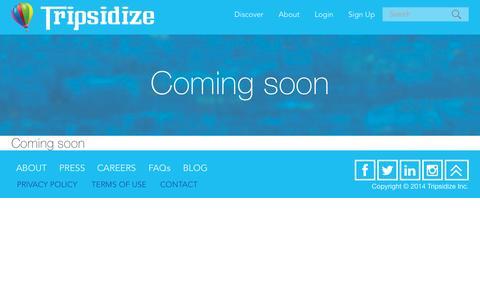 Screenshot of Contact Page tripsidize.com - Tripsidize - captured Nov. 5, 2014