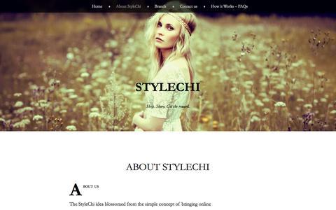 Screenshot of About Page stylechi.com - About StyleChi | StyleChi - captured Sept. 17, 2014