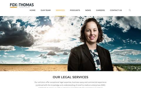 Screenshot of Services Page foxthomas.com.au - Fox & Thomas | Our Services - captured Nov. 25, 2016
