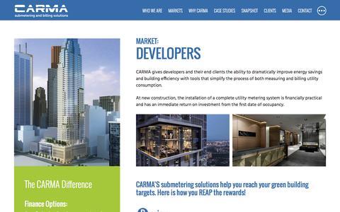 Screenshot of Developers Page carmaindustries.com - Developers - captured Oct. 25, 2016