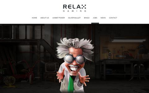 Screenshot of Jobs Page relax-gaming.com - JOBS - Relax Gaming Ltd. - captured Oct. 24, 2017