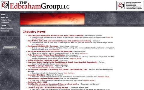 Screenshot of Press Page edbraham.com - Industry News - captured Dec. 14, 2016