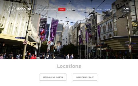 Screenshot of Locations Page lifehouse.com.au - Locations - LifeHouse Church Melbourne - captured Sept. 28, 2018