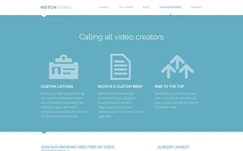 Screenshot of Signup Page notchvideo.com - Sign Up & Join Our Marketplace | Video Creators | Notch Video - captured Oct. 7, 2014