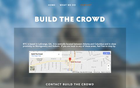 Screenshot of Contact Page buildthecrowd.com - Contact — Build The Crowd - captured July 30, 2016