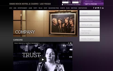 Screenshot of Jobs Page hardrockhotel.com - Careers | Hard Rock Hotel and Casino Las Vegas - captured Sept. 25, 2014