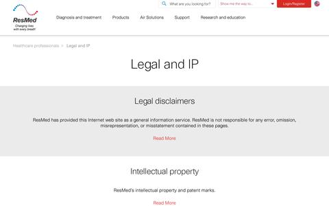 Legal and intellectual property