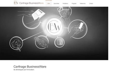 Screenshot of Home Page c-bw.com - Carthage BusinessWare | Se développer par l'Innovation - captured Sept. 20, 2015