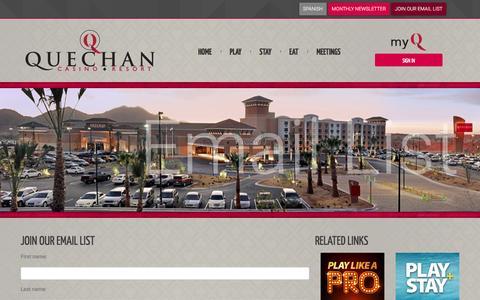 Screenshot of Signup Page playqcr.com - Visit Quechan Casino Resort - Yuma, Arizona - captured Nov. 14, 2016