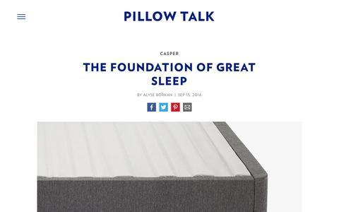 Screenshot of Team Page casper.com - The Foundation of Great Sleep - Casper Mattress Bedtime Reading : Pillow Talk | Casper - captured April 2, 2017